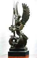 """Skulptuur """"Püha Jüri võitleb lohega""""-0"""