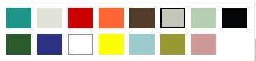 Kupli värvivalik