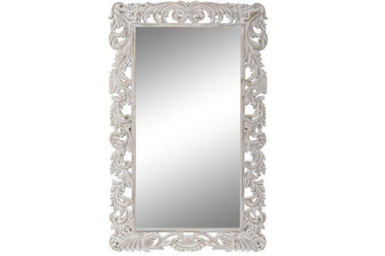 Peegel antiikvalge raamiga-0