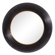 Musta raamiga peegel-0