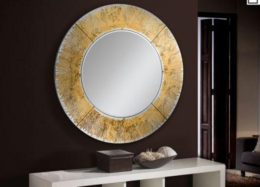 """Kuldse raamiga peegel """"AURORA""""-0"""