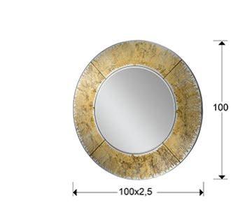 """Kuldse raamiga peegel """"AURORA""""-5961"""