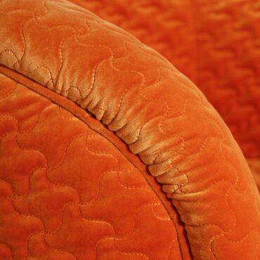 Apelsinivärvi tugitool -6413